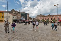 Freedom Square in Porec, Crioatia. Stock Photos