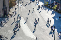 People walk along the Zeil Stock Image