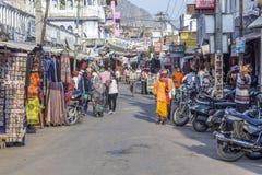 People walk around Pushkar Stock Image