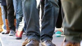 People walk in catwalk in venice stock video