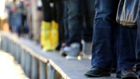 People walk in catwalk in venice stock footage