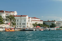 People walk at embankment of the city of Sevastopol Royalty Free Stock Photos