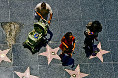 People at the walk of fame Stock Image