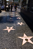 People at the walk of fame in Hollywood Royalty Free Stock Images