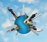 People walk on the globe Royalty Free Stock Image