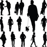 People walk Royalty Free Stock Photo