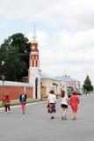 People walk in Kremlin in Kolomna, Russia. Stock Photography