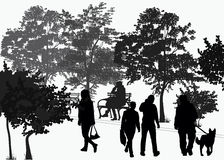 People walk in the park Royalty Free Stock Images