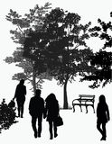 People walk in the park Royalty Free Stock Image