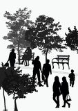 People walk in the park Royalty Free Stock Photo