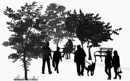 People walk in the park Stock Photography