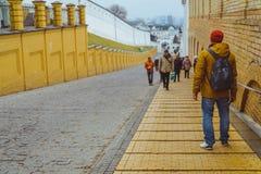People walk in pecherska lavra Royalty Free Stock Images