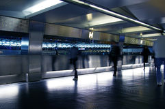 People walk during rush hours, blurred motion. Stock Photos