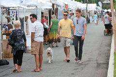 People Walk And Shop At Summer Arts Festival Stock Image