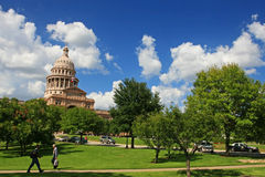 People walk at Texas state capitol Stock Photos