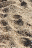 People walked in the sand of the beach of La Bernerie-en-Retz (France) Stock Photos