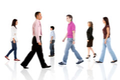 People walking Royalty Free Stock Image