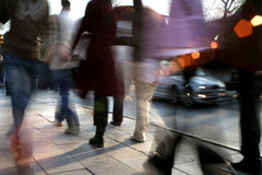 People walking royalty free stock image