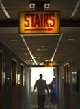 People walking Along the Corridor Stock Image