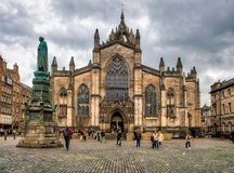 St Giles` Cathedral in Edinburgh Royalty Free Stock Images