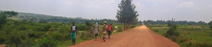 A road in Africa, Rwanda. stock image