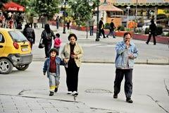 People walking around in Bitola. BITOLA, MACEDONIA, MAY 19, 2011 People walking around in Bitola, Macedonia, on May 19th, 2011 Stock Photos
