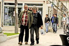 People walking around in Bitola. BITOLA, MACEDONIA, MAY 19, 2011 People walking around in Bitola, Macedonia, on May 19th, 2011 Royalty Free Stock Photos