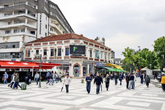 People walking around in Bitola Stock Image