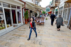 People walking around in Bitola Royalty Free Stock Image