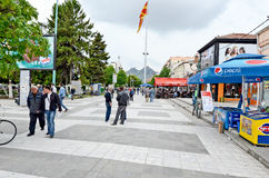 People walking around in Bitola Royalty Free Stock Images