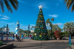 People walking around of Christmas Tree at Seaworld s Christmas Celebration 2