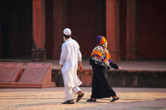 People walking around Fatehpur Sikri complex in Uttar Pradesh, I Stock Photos