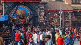Indra Jatra Festival stock photo