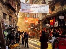 Narrow streets of Asan royalty free stock photo