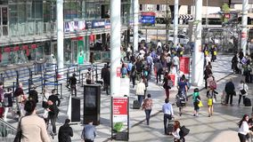 People walking, background stock video footage