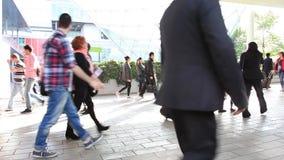 People walking, background stock footage