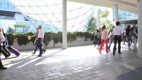 People walking, background stock video
