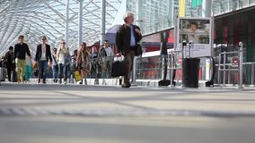 People walking, background stock footage