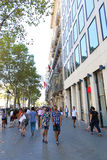 People walking at Barcelona streets Royalty Free Stock Photography