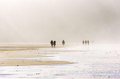 People walking on beach Royalty Free Stock Photos