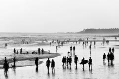 People walking on beach. Bali stock photos