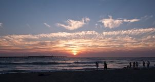 A beautiful California sunset over the Pacific ocean royalty free stock photography