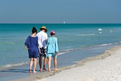 People Walking on Beach Royalty Free Stock Photography