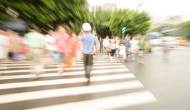 People walking on big city street Stock Photography