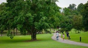 People walking at the Botanic Gardens in Singapore Royalty Free Stock Photo