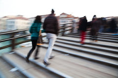 People walking on a bridge in Venice Royalty Free Stock Image
