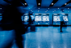 People walking in a busy airport in Shenzhen,China Royalty Free Stock Photos