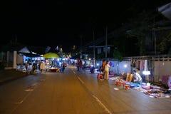 People walking and buying things at walking street night market Stock Photo