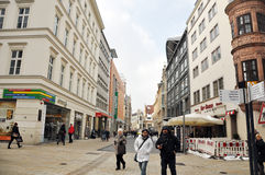People walking in the center of Leipzig Royalty Free Stock Photo