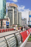 People walking in Central Business District of Shanghai, China Stock Images